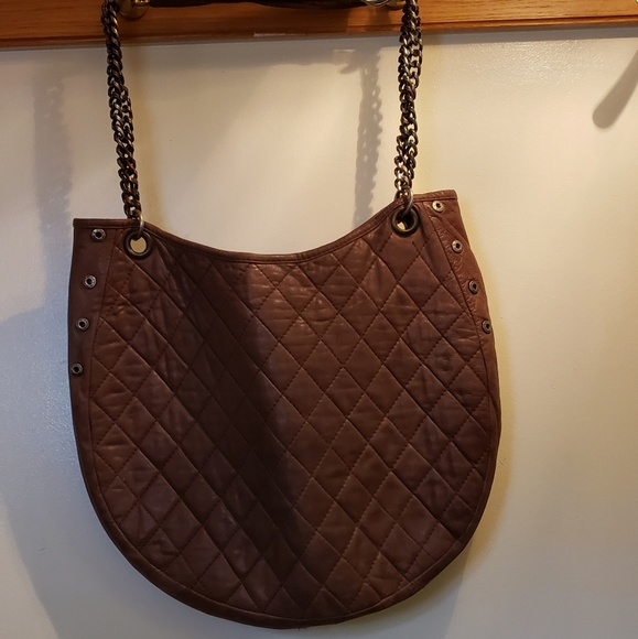 Paul & Joe Sister Taupe Lambskin Quilted Stachel
